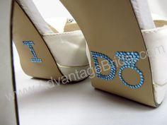 Rhinestone I Do for Brides Shoes -I Do Stickers for Wedding Shoes - Wedding and Bridesmaids Shoes