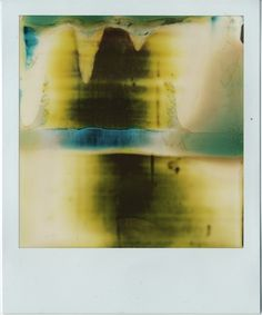 polaroid paintings: I removed film slides from the box without taking a picture, exposed them to different ambient light situations and worked the chemistry manually over the image.