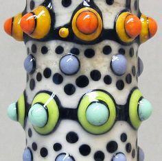 Zuma Totem in CreamHandmade Lampwork Glass Bead by beadygirlbeads, $39.00