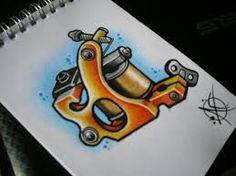 machine Tattoo watercolor - Pesquisa Google
