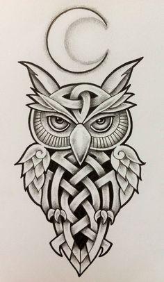 Owl Tattoo Design, Tribal Tattoo Designs, Tattoo Designs And Meanings, Tribal Owl Tattoos, Tattoo Animal, Geometric Tattoos, Buho Tattoo, Hawaiianisches Tattoo, Body Art Tattoos