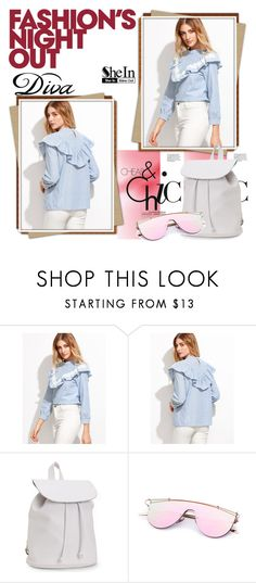 """""""Sheinside"""" by realmadrid-1 ❤ liked on Polyvore featuring Aéropostale, Fashion's Night Out and DIVA"""