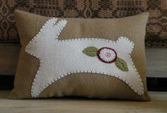 Wool Bunny Pillow.