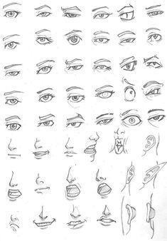 eye drawing tips, realistic or cartoon easy Drawing Lessons, Drawing Techniques, Drawing Tips, Drawing Sketches, Sketching, Drawing Heads, Body Drawing, Anatomy Drawing, Figure Drawing