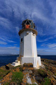 RUBH AN EUN lighthouse Kilchattan Bay Isle of Bute Scotland