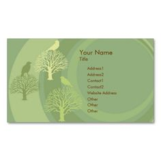 I Am Green Bird Custom Business Card. This great business card design is available for customization. All text style, colors, sizes can be modified to fit your needs. Just click the image to learn more!