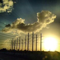 Cloudy sunny
