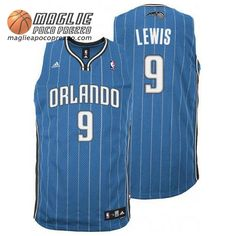 Canotte nba Lewis #9 blu Orlando Magic