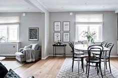 Monochromatic apartment with interesting decor details