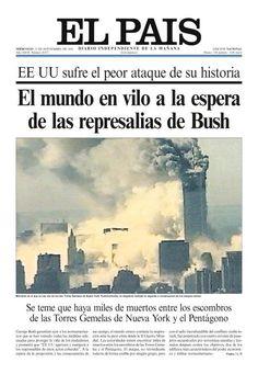 Ataque terrorista a las torres gemelas de Nueva York. El País, Nacional, 12 septiembre 2001