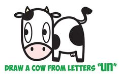 Cow drawing for kids easy to draw cartoon cow how to draw a cute cartoon cow . cow drawing for kids Cow Cartoon Drawing, Cow Drawing Easy, Easy Animal Drawings, Cartoon Cow, Cartoon Drawings Of Animals, Cartoon Drawing Tutorial, Cartoon Kids, Easy Drawings, Drawing Tips