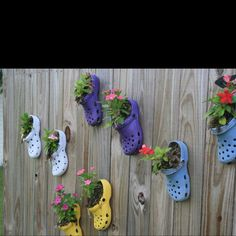cute idea for old crocs