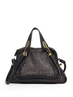 Chloé - Paraty Medium Perforated Shoulder Bag - Saks.com $2800