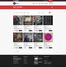 Freebie: Musica - Ecommerce Website Template (PSD) - Shop Page