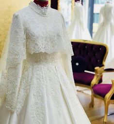 You will find different rumors about the annals of the marriage dress; Muslimah Wedding Dress, Muslim Wedding Dresses, Wedding Gowns, Hijab Bride, Wedding Rings, Muslim Fashion, Hijab Fashion, Marriage Day, Hijab Dress
