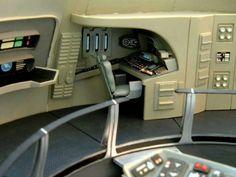 Model of Enterprise refit bridge, weapons station Star Trek Models, Sci Fi Models, Star Wars, Star Trek Tos, Star Trek Bridge, Bridge Model, Star Ship, Star Trek Starships, Starship Enterprise