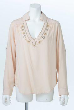 Bijou Shirt (Beige)   Cherry Ann Online Shop Cherry Ann, Blouses, Beige, Long Sleeve, Sleeves, Shirts, Shopping, Tops, Women
