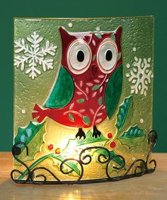 Take a look at this Holiday Owl Candleholder by Transpac Imports on #zulily today!