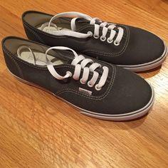 Vans Gray vans never worn, size 8 brand new, too big on me! Discount 4 or more items 15% off buy now!!! Vans Shoes