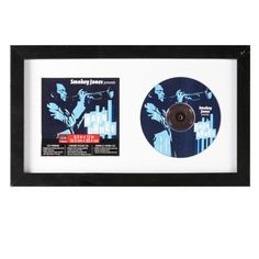 <div>Display your favorite music as art. This CD display case holds both the cover art and the d...