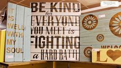Wood signs in HollyWould Designs - inside Gracie Lane