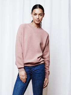 Soft Goat Women's Waffle Knit Blush size M