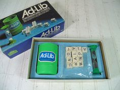 Vintage Ad-Lib Game  Retro 1970s CrossWords Cubes by DivineOrders