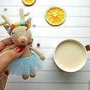 Cute Deer. Amigurumi. Crochet toy/ Handmade.