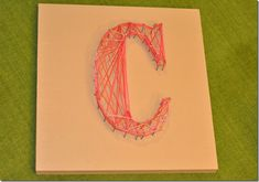 string art and letter templates String Art Letters, Letter Templates, Girl Scouts, Wood Signs, Activities For Kids, Something To Do, Projects To Try, Arts And Crafts, Artsy