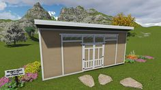 Large 10x24 Modern Shed Plan available at http://www.diy-plans.com