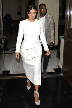 Kim steps out at the Art District apartments on Sept. 28, 2014, in Paris, France. Getty -Cosmopolitan.com