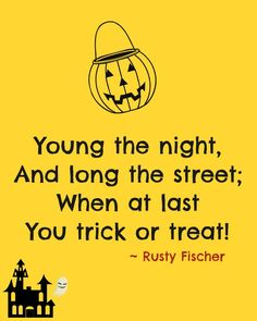 Young the night... A Halloween poem