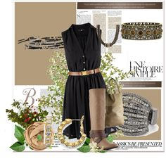 """""""Black and Tan"""" by monika-tabor on Polyvore"""