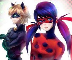 Miraculous Ladybug and Cat Noir Lady Bug, Comics Ladybug, Ladybug Anime, Manga Girl, Marinette Ladybug, Marinette And Adrien, Cat Noir, Kids Shows, Anime Kawaii