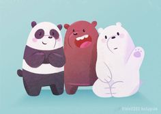 "Can't wait to attend a Cartoon Network Asia talk by the creator of ""We Bare Bears"" himself, Daniel Chong did this quick piece just for the occasion! 3 Bears, Cute Bears, We Bare Bears Wallpapers, Cute Wallpapers, Osos Cartoon Network, Pardo Panda Y Polar, Cn Fanart, Film Anime, Bear Wallpaper"