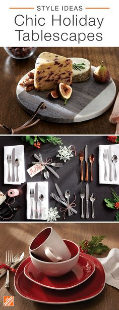 There's nothing better than a home brimming with family, friends and the warm aroma of a delectable Christmas dinner. Get the house ready for the festivities by setting the table with creative place settings, splashes of red and green accents and a traditional floral centerpiece. Click to shop festive dining room decor.