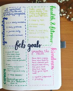 Goals page layout