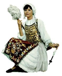 Livanates Lady...1970s? Greek Costumes, Drop Spindle, Greeks, Spinning, 1970s, Traditional, Board, Inspiration, Collection