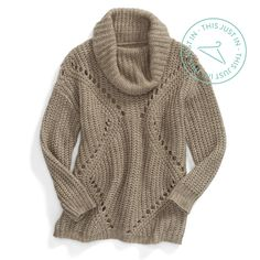 Curl up in a cowl neck. The relaxed fit & draped neckline are meant for maximum coziness with minimal effort.
