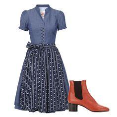 Every-Day-Shoe: Schmal geschnitten und mit kleinem Blockabsatz funktioniert der 60s-Bootie im Alltag zu Cropped-Jeans und Kleidern in A-Linie.