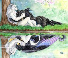 Reflecting Love by *Goldenwolf on deviantART