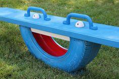 Pneu jouet pour le terrain d'enfants de plein air