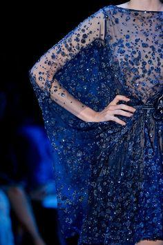 sheer and sparkly indigo blue....