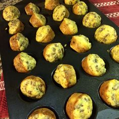 Mix all ingredients together, scoop into mini muffin tins and bake minutes at 350 degrees. Makes mini muffin size casserole bites. Bite Size Breakfast, What's For Breakfast, Breakfast Dishes, Breakfast Recipes, Breakfast Casserole Muffins, Frozen Breakfast, Breakfast Sandwiches, Muffin Tin Recipes, Muffin Tins