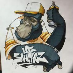 Graffiti Artwork, Graffiti Drawing, Mural Art, Street Art Graffiti, Monkey Art, Graffiti Characters, Hip Hop Art, Amazing Street Art, Cool Drawings