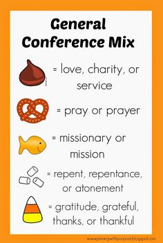 General conference snack mix printable - help keep toddlers and preschoolers engaged.