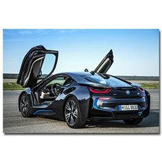 "cool Amazing 8x12"" 0336A BMW i8 Concept Supercar-Print Art silk Poster 2017 2018"