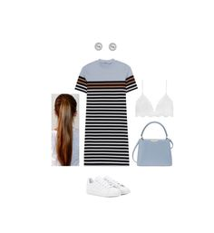 """trippin stumblin flippin fumbling"" by carolinejbrooks ❤ liked on Polyvore featuring T By Alexander Wang, Henri Bendel and adidas"