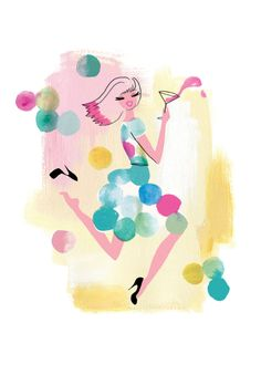 Pin-up Pretty: Neryl Walker's Cocktail Chic Illustrations | Story by ModCloth