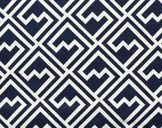 Premier Prints Shakes Premier Navy on White Slub - Fabric by the Yard - Home Decorating Fabric